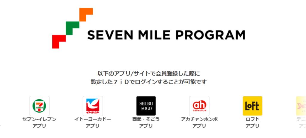 セブンマイルプログラムのトップページ
